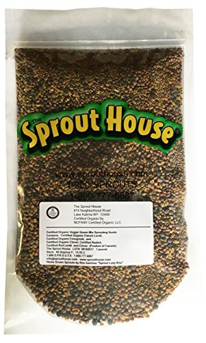 Seed Sprouts Sprouting (The Sprout House Veggie Queen Salad Mix Certified Organic Non-gmo Sprouting Seeds - Red Clover, Red Lentil, French Lentil, Daikon Radish, Fenugreek 1 Pound)
