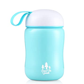 f2d93400176 JIAQI Mini Flask with Handle, 220 ml Vacuum Insulated Leak Proof Coffee  Travel Mug,