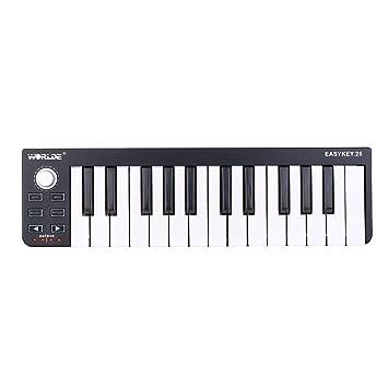 Worlde Easykey 25 Teclas Tetclado Portátil Mini USB 25-Key MIDI Controlador: Amazon.es: Electrónica