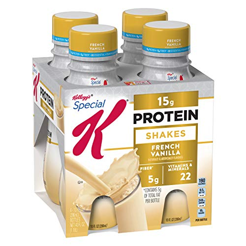 Kellogg's Special K Protein Shakes, French Vanilla, Gluten Free, 10 fl oz Bottles, 4 Count (Pack of 3) (Special Vanilla)