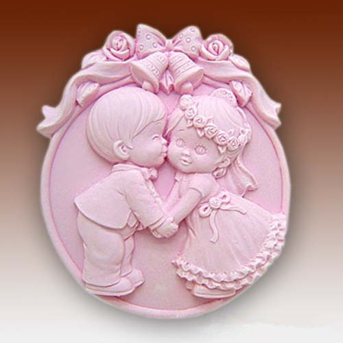 Longzang Wedding Kiss Silicone Mold Craft Art Silicone Soap Mold Craft Molds DIY Handmade Soap Molds (S034)