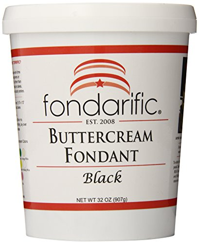 (Fondarific Buttercream Fondant Black, 32 ounces)