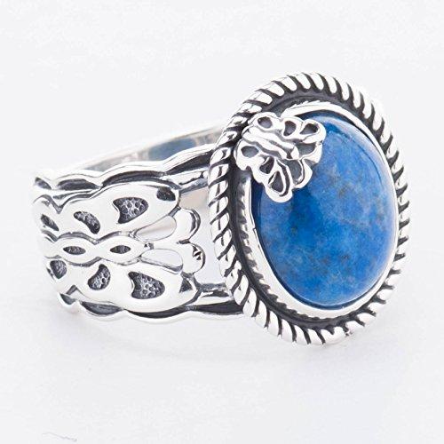 American West Sterling Silver Denim Lapis Butterfly (Denim Lapis Ring)