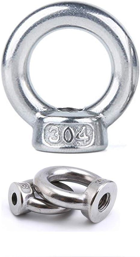 Lifting Eye Mutter 304 Edelstahl Hardware Ring geformt Lifting Eye Mutter M3 M4 M5 M6 M8 M10 M12 M14 M16 verf/ügbar