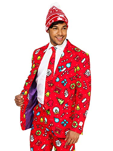 OppoSuits Christmas Suits for Men in Different Prints