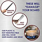 Restaurant Thick White Plastic Cutting Board, 18x12 NSF, 1 Inch Thick