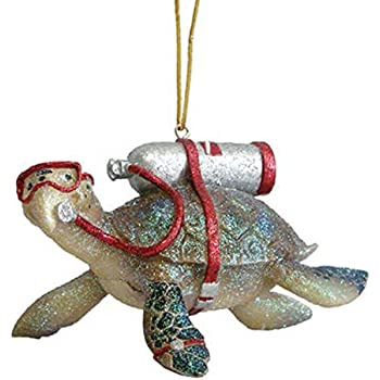 Amazon.com: Scuba Diver Christmas Ornament Set of 2: Home ...