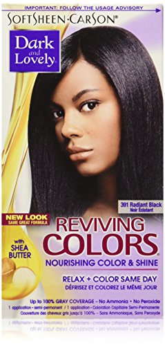 (SoftSheen-Carson Dark and Lovely Reviving Colors Nourishing Color & Shine, Radiant Black 391)