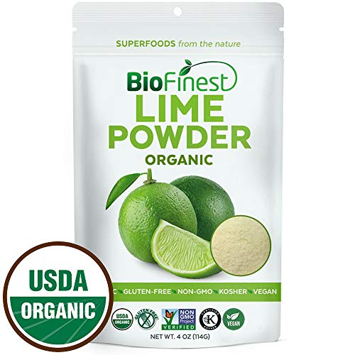 Biofinest Lime Powder - 100% Pure Freeze-Dried Antioxidants Superfood -USDA Certified Organic Kosher Vegan Raw Non-GMO - Boost Digestion Weight Loss - For Smoothie Beverage Blend (4 oz Resealable Bag)
