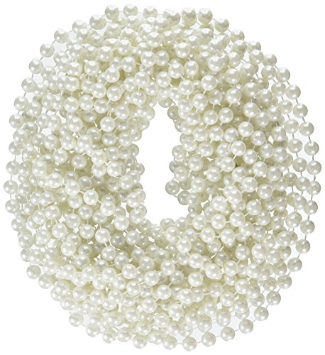 Rhode Island Novelty 48-Inch Large Faux Pearl Necklace, Whit