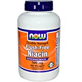 Now Foods, Niacin, Flush-Free, Double Strength, 500 mg, 180 Vcaps - 2PC