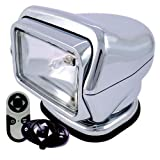 Go Light Stryker Searchlight with Wireless Dash and Handheld remotes, Permanent Mount, Chrome