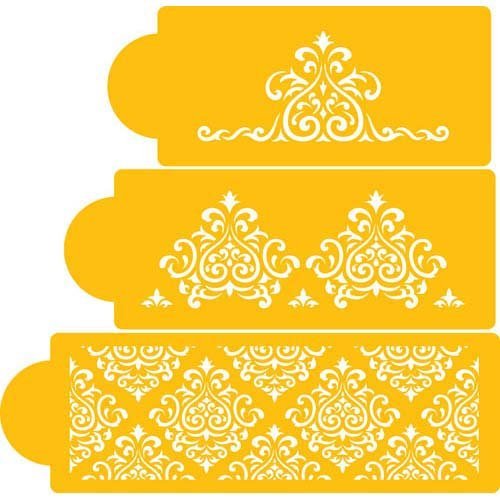 picture about Cake Stencils Free Printable known as : Designer Decorating Cake Stencil, Elaines Cake