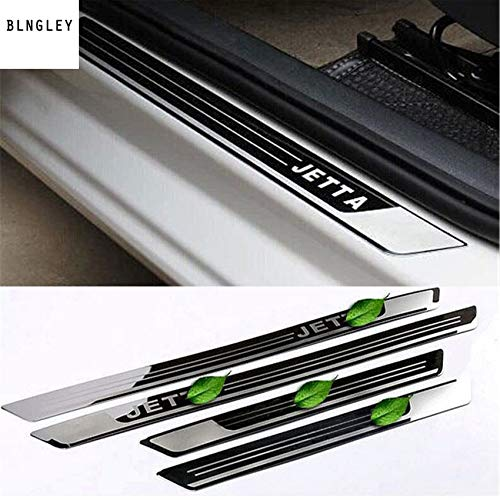 4pcs//lot Ultra-Thin Stainless Steel Door Sill Scuff Plate for 2011-2017 VW Volkswagen Jetta 6 MK6 car Accessories