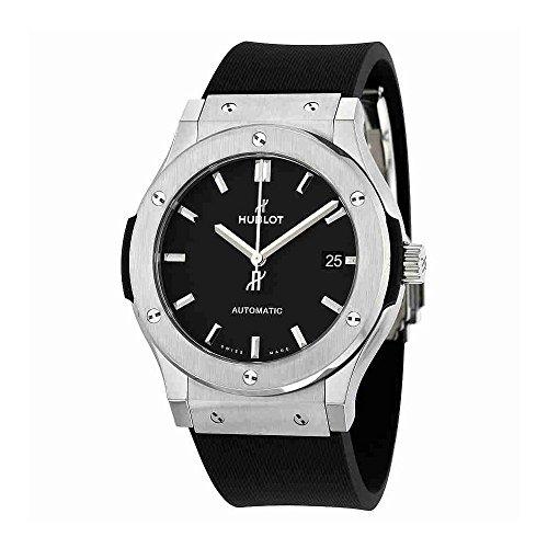 Hublot-Classic-Fusion-Black-Dial-Black-Rubber-Mens-45mm-Watch-511NX1171RX