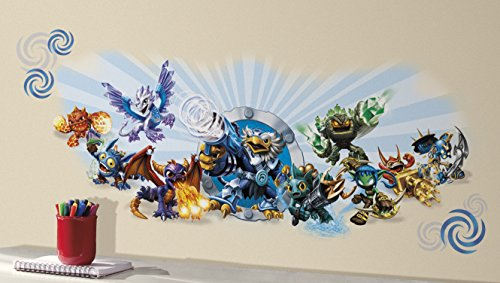 RoomMates RMK2667GM Skylanders Classic Wall Graphic Peel and Stick Wall Decals