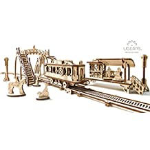 UGears Mechanical Town Series Tram Line mechanical wooden model KIT 3D puzzle Assembly