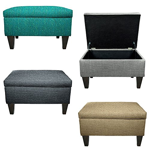 MJL Furniture Brooklyn Upholstered Square Storage Ottoman ()