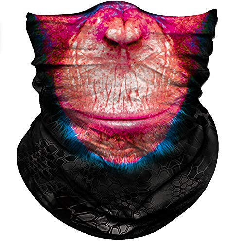 Obacle Animal Half Face Mask Sun Dust Wind Protection Durable Breathable Seamless Face Mask for Men Women, Lightweight Thin Neck Gaiter for Outdoor Sports Gifts Orangutan Color Mouth