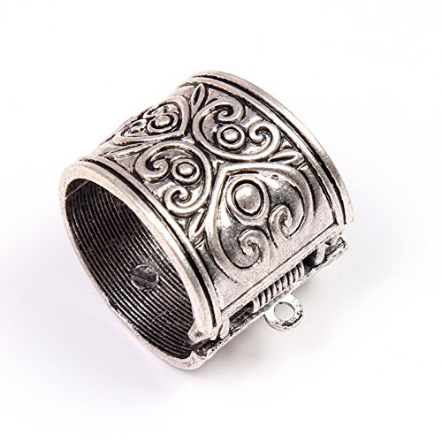 PendantScarf 12 Pieces/lot Self-closing Lock Jewelry Pendant Scarf Slide Tube Bails ()
