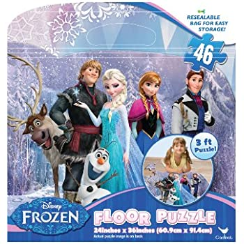 Amazon Com Disney Princess 46 Piece 3 Foot Floor Puzzle