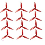 6 Pair DALPROP T5045C Cyclone 5 Inch 3 Blade Propeller Clover Prop for RC Drone FPV Racing-Crystal Red