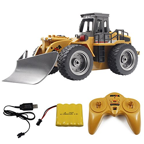 Your Supermart RC Construction Tractor Toys Truck, 1/18 2.4G 6CH High Speed Alloy Snow Sweeper Truck Metal Shovel Excavator Toy Remote Control RC Car (Trailers Metals Mini)