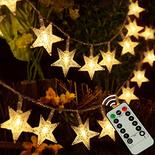 kingleder 25ft 50 LED Xmas Star Light Fairy