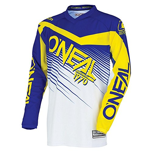 O'Neal Unisex-Adult Element Racewear Jersey (Blue/Yellow, Youth Medium)