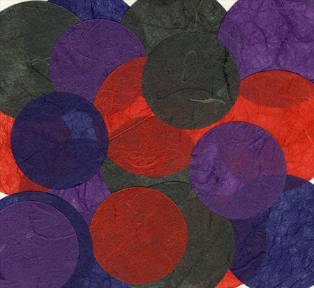 Decorative Die Cut Paper Accents - Pack of 20 Colorful Rice Paper - Accents Colorful Circles