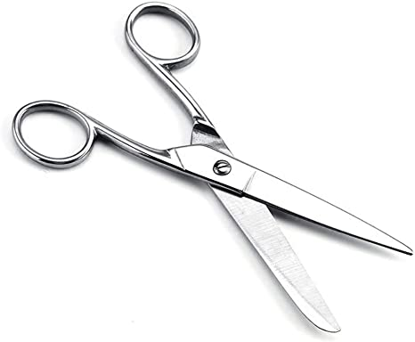 Red 7inch Stainless Steel Household Scissors