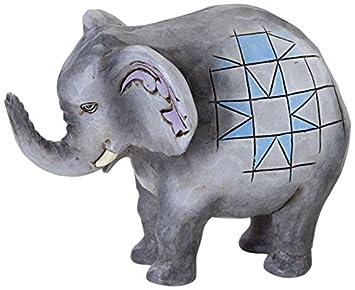 Jim Shore Heartwood Creek Mini Elephant Stone Resin Figurine, 2.75