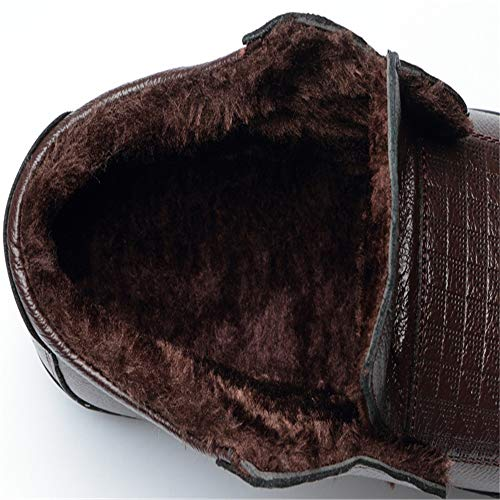 Brown Mûr Rond Bout Warm Oxford Mode Xinguang Hommes Pour D'âge Faux Confortable Casual Ying Fleece Coton Doublé Chaud ZOTqFx6x
