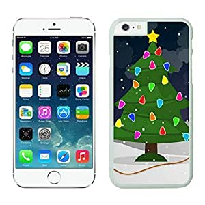 The Christmas Tree On Christmas Day Lovely Mobile Phone Protection Shell for iphone 6 Case-Unique Soft Edge Case(2015),Christmas tree iPhone 6 Case 25 White