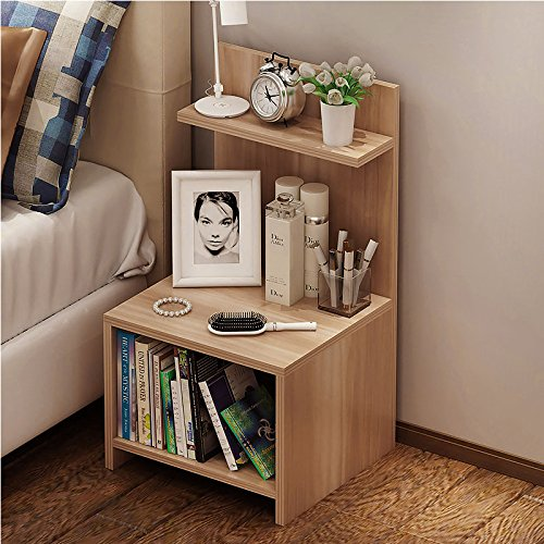Cr Wood Nightstand Bed End Side Table Bathroom Cabinet (Nightstand Bookshelf)