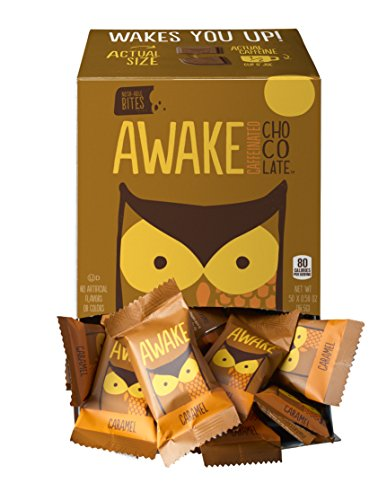 (Awake Caffeinated Chocolate Energy Bites, Caramel, 50 Count)