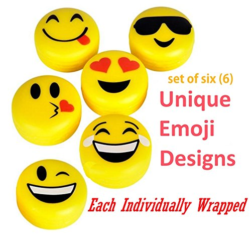 Emoji Lip Gloss For Kids 6 Pack