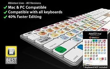 Editors Keys - Juego de pegatinas para atajos de teclado para Ableton Live: Amazon.es: Electrónica