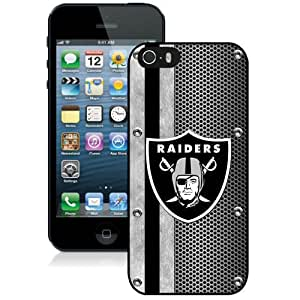 Beautiful And Unique Designed Case For iPhone 5S With Oakland Raiders 04 Black Phone Case
