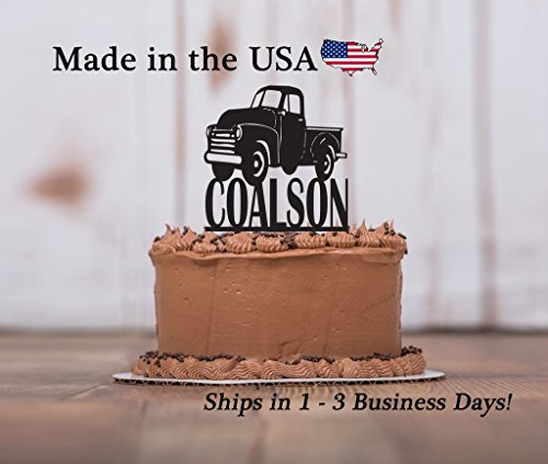 - Old Truck, Cake Topper, Boy Sweet 16, Party Decor, Hot Rod, Classic Truck, Man's Birthday Party, Cake Decorations, with FREE Keepsake Base