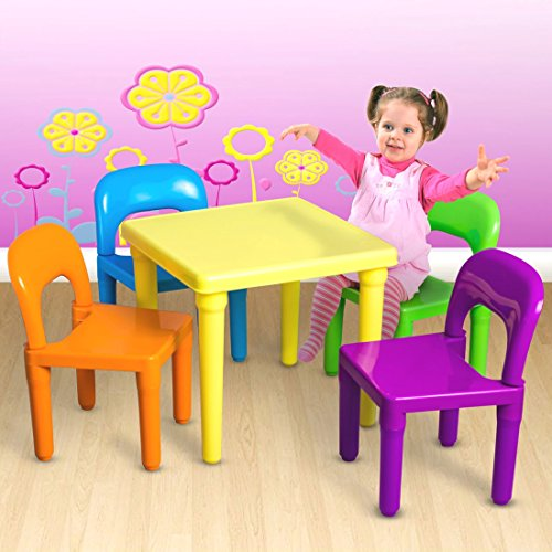 [Kids Table and Chairs Play Set Toddler Child Toy Activity Furniture In-Outdoor] (Ideas For Homemade Robot Costumes)