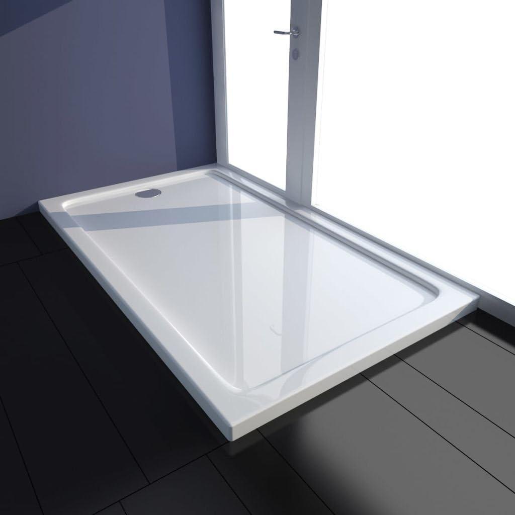 Plato de ducha (ABS rectangular 70 x 120 x 4 cm), color blanco ...