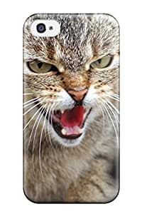 Top Quality Case Cover For Iphone 4/4s Case With Nice Geoffroy's Cat Appearance