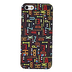 Letters Pattern Hard Case for iPhone 5/5S