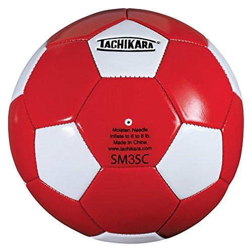 Tachikara Scarlet/White Soccer Ball, Size 3