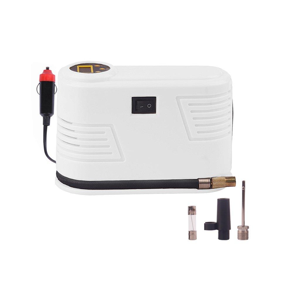 Portable Car Digital Tire Inflator Auto Tyre Pump Air Compressor 12v DC 150 Psi ABS (White) HCL AUTO PARTS