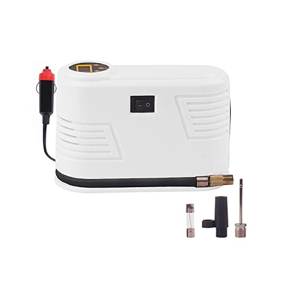 Inflador de neumáticos digital portátil para coche, compresor de aire 12 V CC 150 PSI ABS (blanco).: Amazon.es: Coche y moto