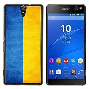 TECHCASE---Cubierta de la caja de protección para la piel dura ** Sony Xperia C5 Ultra ** --Nacional bandera de la nación País Ucrania