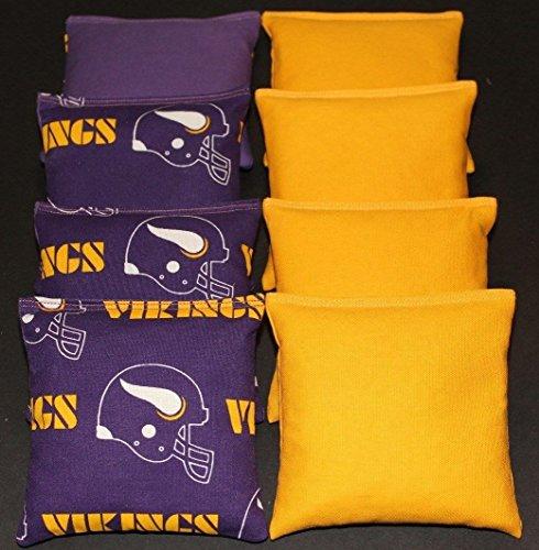 Corn Minnesota (8 MINNESOTA VIKINGS Cornhole Bean Bags)