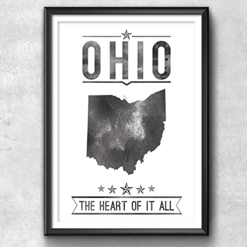 Ohio State Typography Print, Typography Poster, Ohio Poster, Ohio Art, Ohio Gift, Ohio Decor, Ohio Print, Ohio Love, Ohio Map, Ohio, home